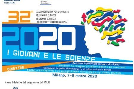 """Ad aprile si terranno le premiazioni dell'edizione 2021 del concorso """"I Giovani e le Scienze"""""""