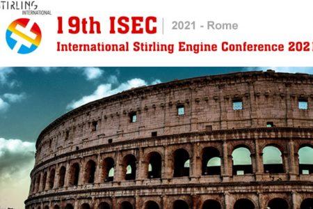 Online le registrazioni dell'International Stirling Engine Conference (ISEC) 2021